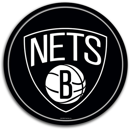 Brooklyn Nets: Modern Disc Wall Sign