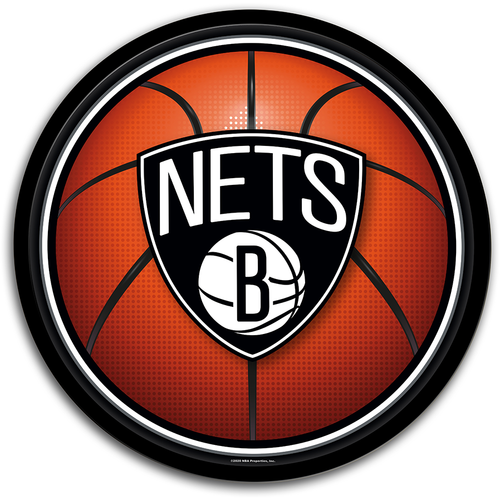 Brooklyn Nets: Basketball - Modern Disc Wall Sign