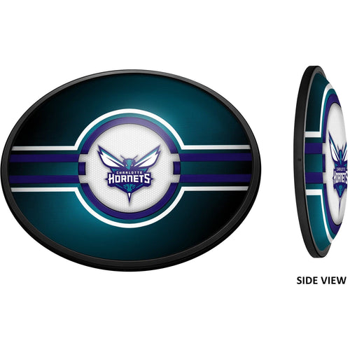 Charlotte Hornets: Oval Slimline Lighted Wall Sign