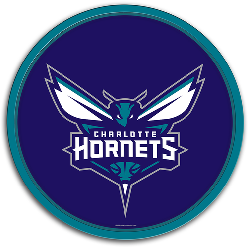 Charlotte Hornets: Modern Disc Wall Sign