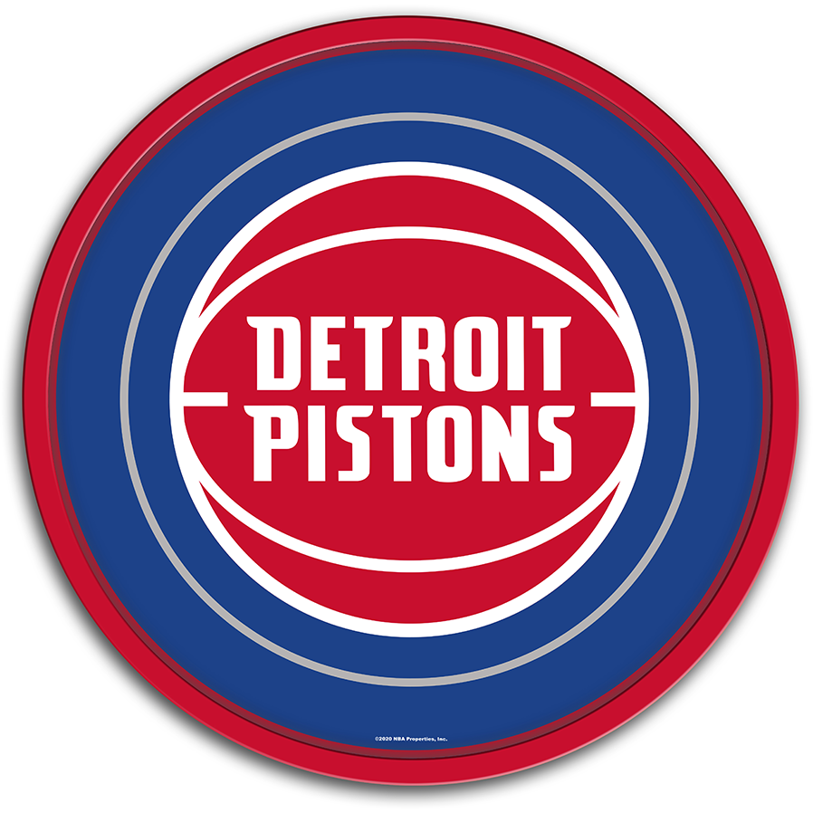 Detroit Pistons: Modern Disc Wall Sign