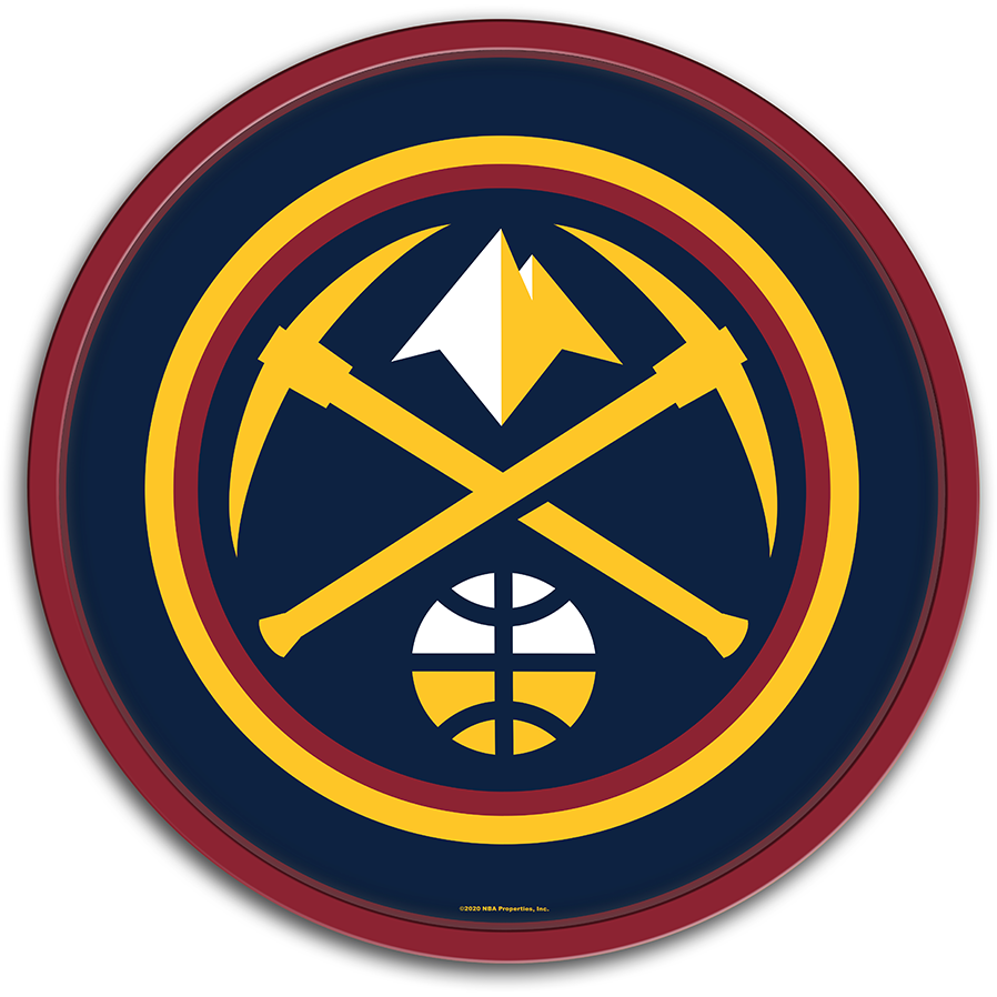 Denver Nuggets: Modern Disc Wall Sign - The Fan-Brand