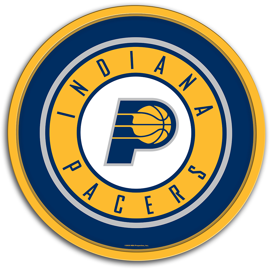 Indiana Pacers: Modern Disc Wall Sign