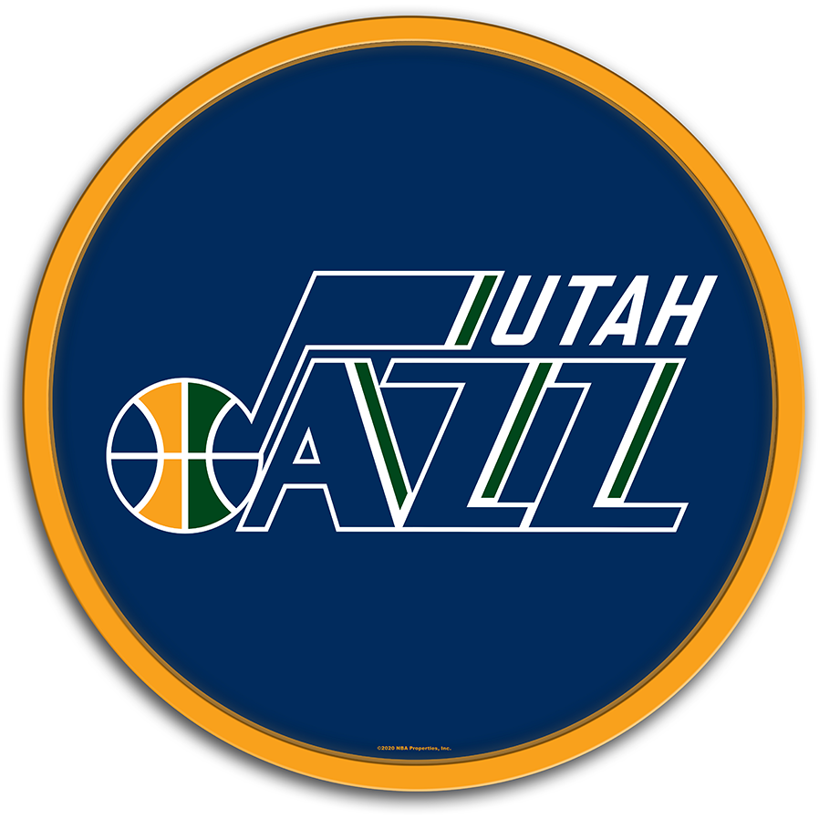 Utah Jazz: Modern Disc Wall Sign