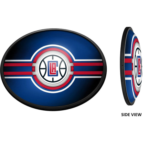 Los Angeles Clippers: Oval Slimline Illuminated Wall Sign