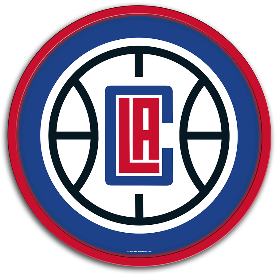 Los Angeles Clippers: Modern Disc Wall Sign