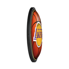 Load image into Gallery viewer, Los Angeles Lakers: Basketball - Round Slimline Lighted Wall Sign - The Fan-Brand