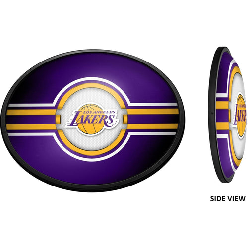 Los Angeles Lakers: Oval Slimline Lighted Wall Sign