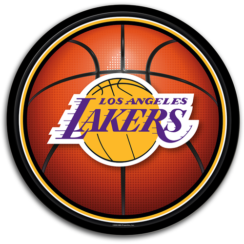 Los Angeles Lakers: Basketball - Modern Disc Wall Sign