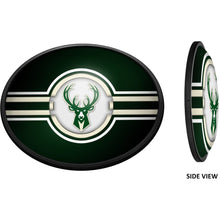 Load image into Gallery viewer, Milwaukee Bucks: Oval Slimline Lighted Wall Sign