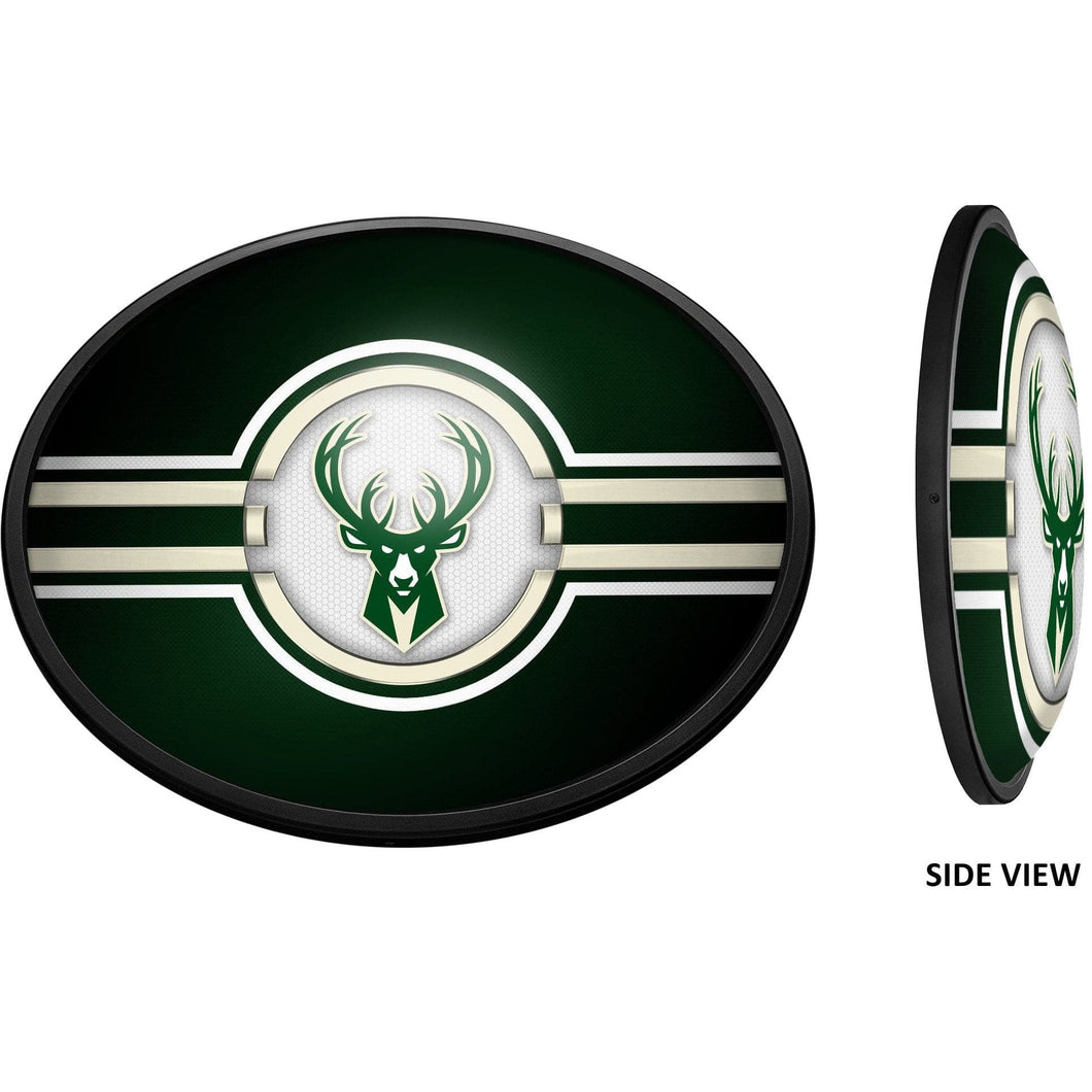 Milwaukee Bucks: Oval Slimline Lighted Wall Sign