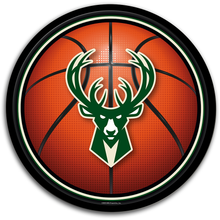 Load image into Gallery viewer, Milwaukee Bucks: Basketball - Modern Disc Wall Sign