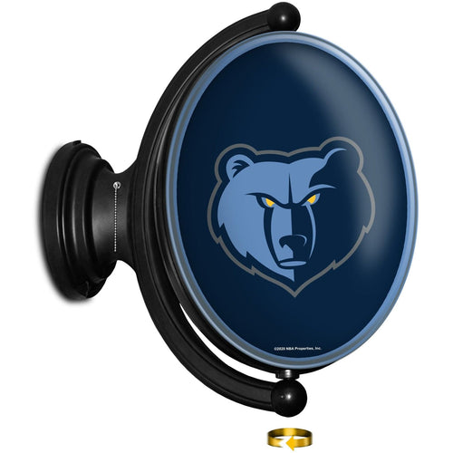 Memphis Grizzlies: Original Oval Rotating Lighted Wall Sign - The Fan-Brand