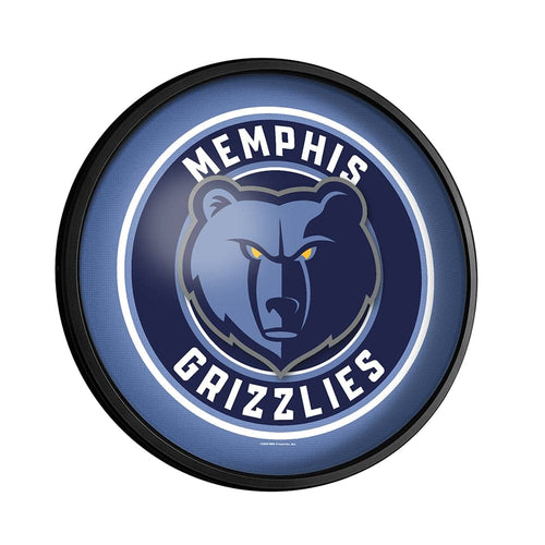 Memphis Grizzlies: Round Slimline Lighted Wall Sign - The Fan-Brand
