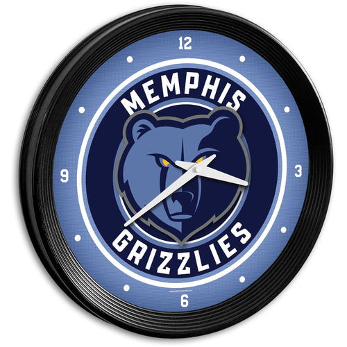 Memphis Grizzlies: Ribbed Frame Wall Clock - The Fan-Brand
