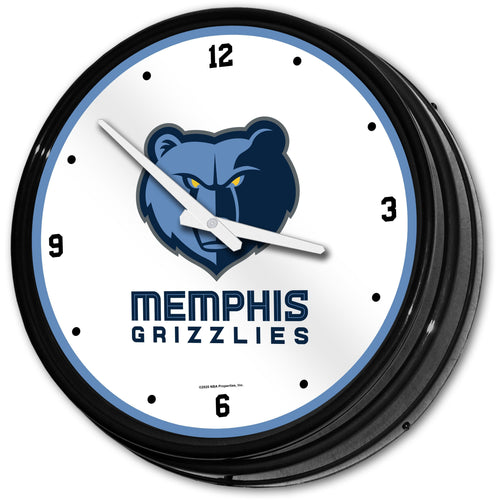 Memphis Grizzlies: Retro Lighted Wall Clock - The Fan-Brand