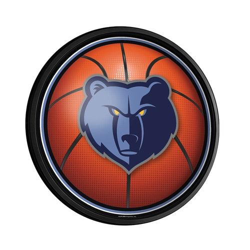 Memphis Grizzlies: Basketball - Round Slimline Lighted Wall Sign - The Fan-Brand