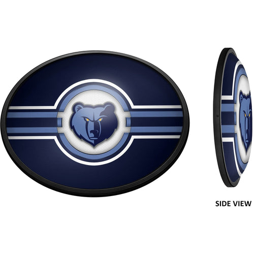 Memphis Grizzlies: Oval Slimline Lighted Wall Sign - The Fan-Brand