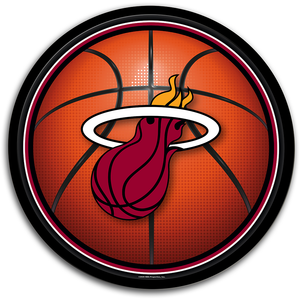 Miami Heat: Basketball - Modern Disc Wall Sign