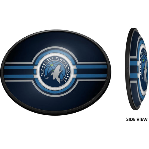 Minnesota Timberwolves: Oval Slimline Lighted Wall Sign - The Fan-Brand