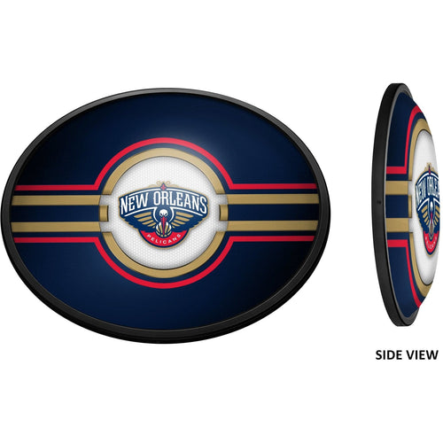 New Orleans Pelicans: Oval Slimline Lighted Wall Sign - The Fan-Brand