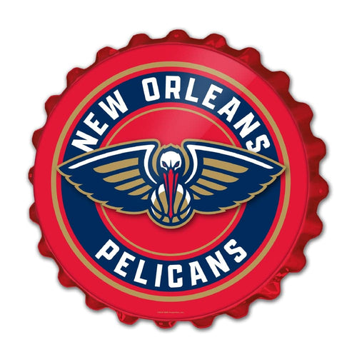 New Orleans Pelicans: Bottle Cap Wall Sign - The Fan-Brand