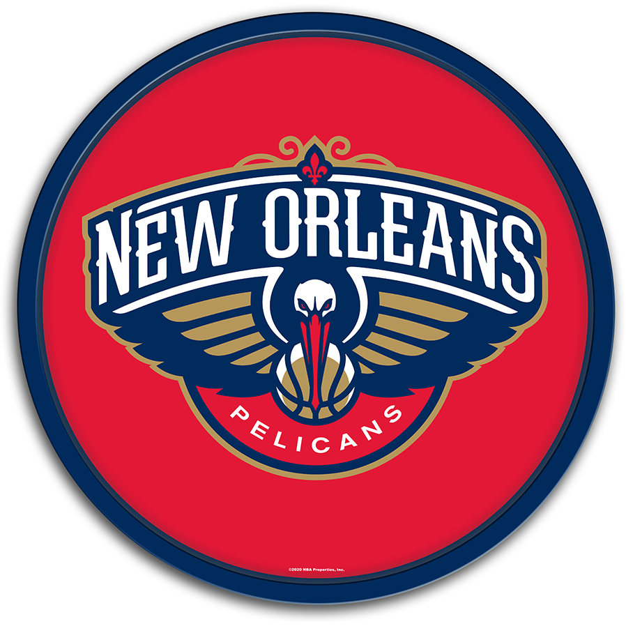 New Orleans Pelicans: Modern Disc Wall Sign