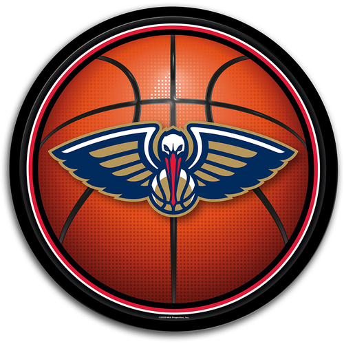 New Orleans Pelicans: Basketball - Modern Disc Wall Sign