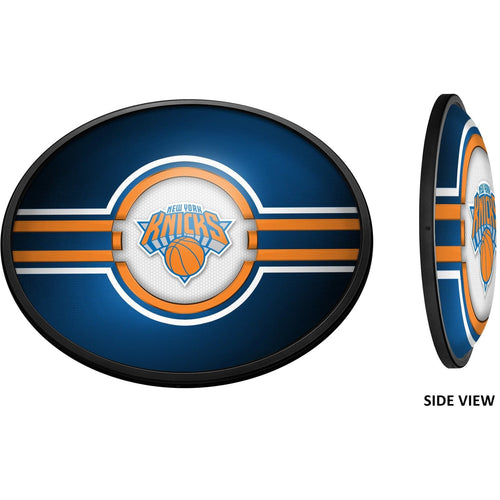 New York Knicks: Oval Slimline Lighted Wall Sign