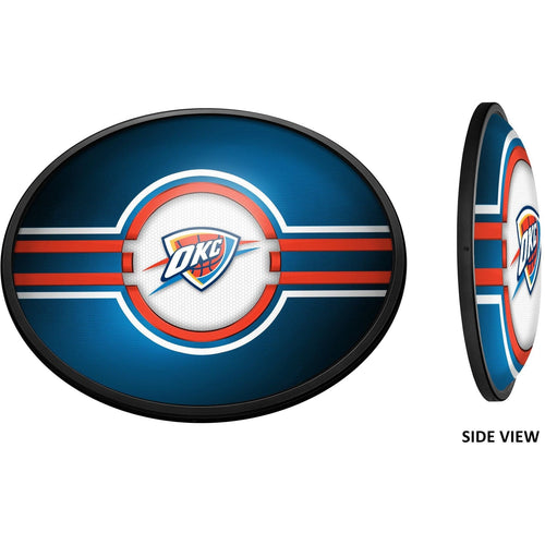 Oklahoma City Thunder: Oval Slimline Lighted Wall Sign