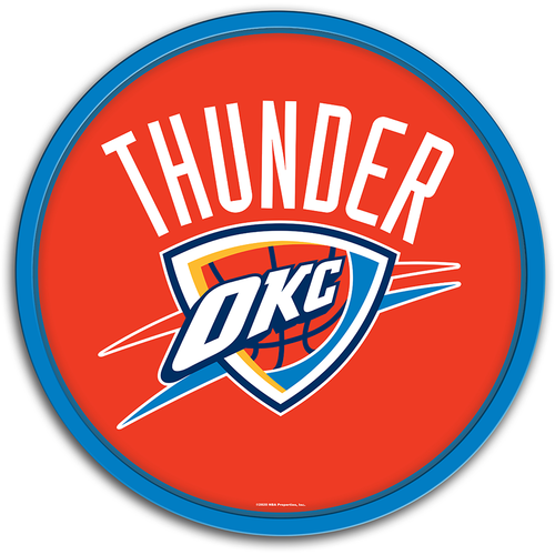 Oklahoma City Thunder: Modern Disc Wall Sign