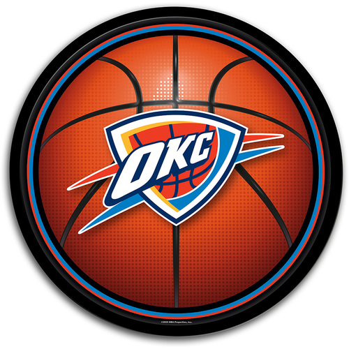 Oklahoma City Thunder: Basketball - Modern Disc Wall Sign