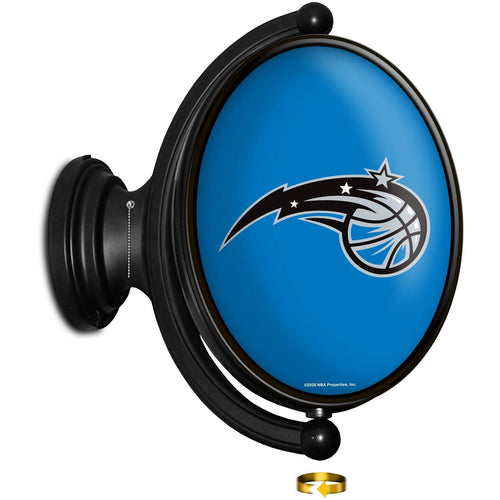 Orlando Magic: Original Oval Rotating Lighted Wall Sign - The Fan-Brand