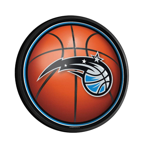 Orlando Magic: Basketball - Round Slimline Lighted Wall Sign - The Fan-Brand