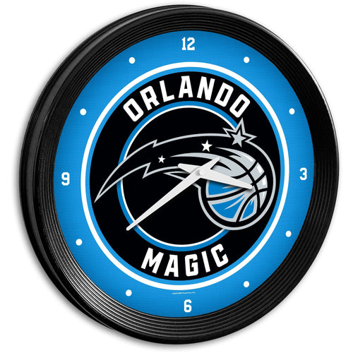 Orlando Magic: Ribbed Frame Wall Clock - The Fan-Brand