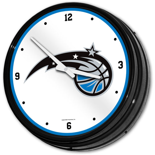 Orlando Magic: Retro Lighted Wall Clock - The Fan-Brand