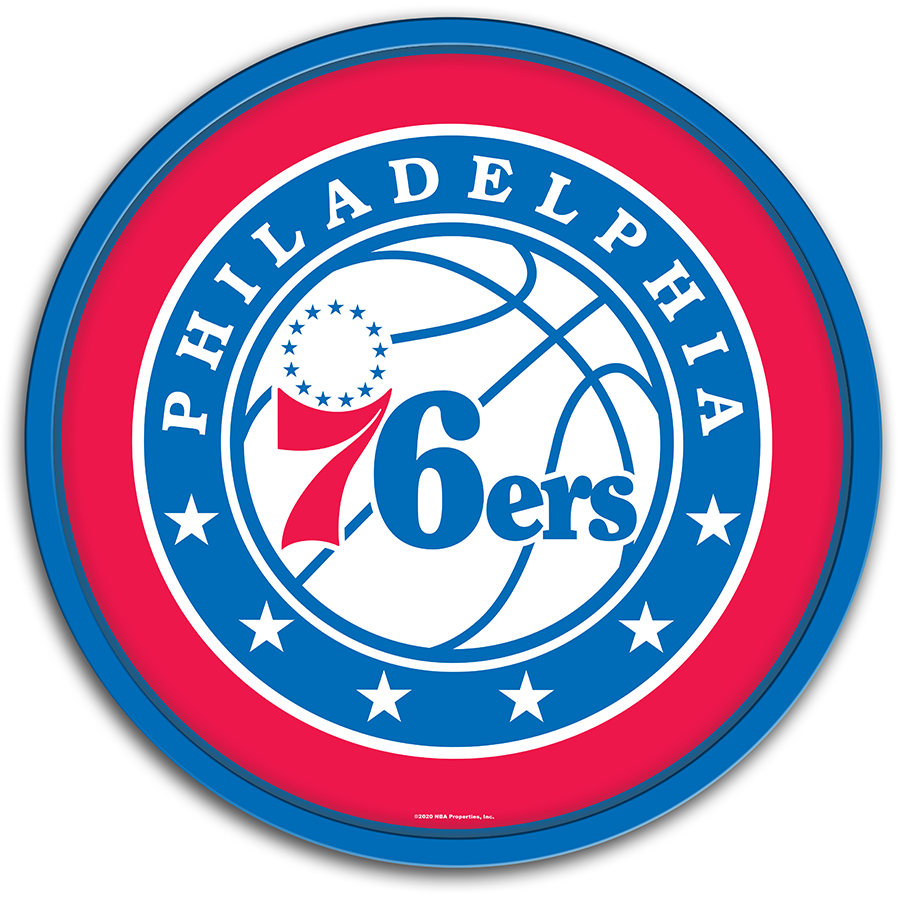 Philadelphia 76ers: Modern Disc Wall Sign