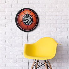 Load image into Gallery viewer, Toronto Raptors: Basketball - Round Slimline Lighted Wall Sign
