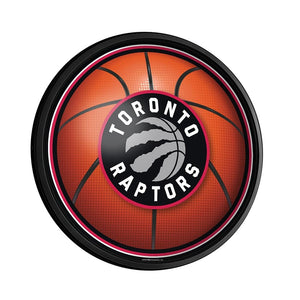 Toronto Raptors: Basketball - Round Slimline Lighted Wall Sign