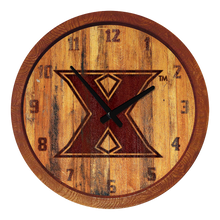 "Load image into Gallery viewer, Xavier Musketeers: Branded ""Faux"" Barrel Top Wall Clock - The Fan-Brand"