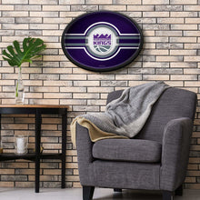 Load image into Gallery viewer, Sacramento Kings: Oval Slimline Illuminated Wall Sign Room Shot