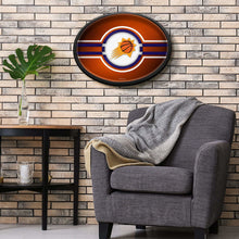 Load image into Gallery viewer, Phoenix Suns: Oval Slimline Illuminated Wall Sign Room Shot