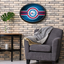 Load image into Gallery viewer, Philadelphia 76ers: Oval Slimline Lighted Wall Sign