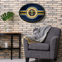 Load image into Gallery viewer, Denver Nuggets: Oval Slimline Illuminated Wall Sign Room Shot