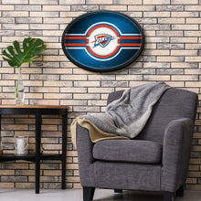 Load image into Gallery viewer, Oklahoma City Thunder: Oval Slimline Lighted Wall Sign