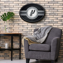 Load image into Gallery viewer, San Antonio Spurs: Oval Slimline Illuminated Wall Sign Room Shot