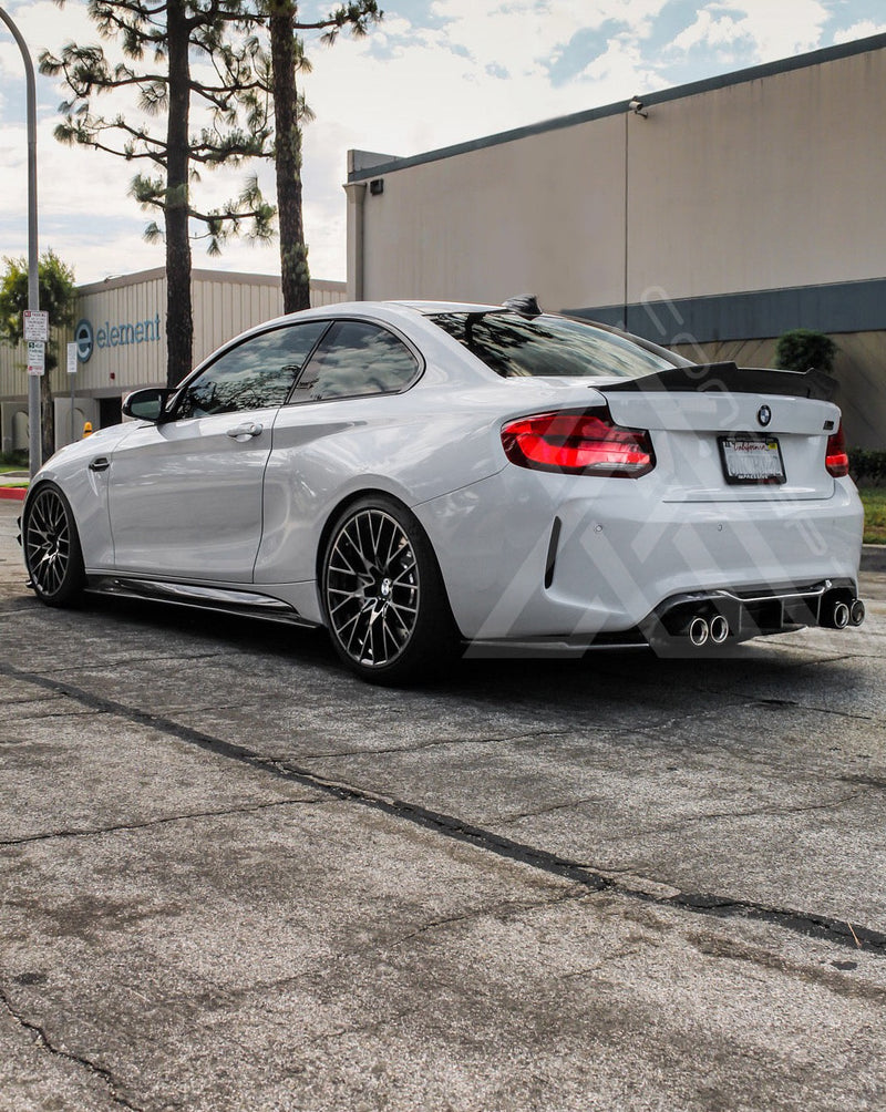 F87 M2 F22 2 Series Carbon Fiber Aggressive High Kick Trunk Lip