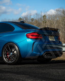F87 M2 F22 2 Series Carbon Fiber Round Edge High Kick Trunk Lip