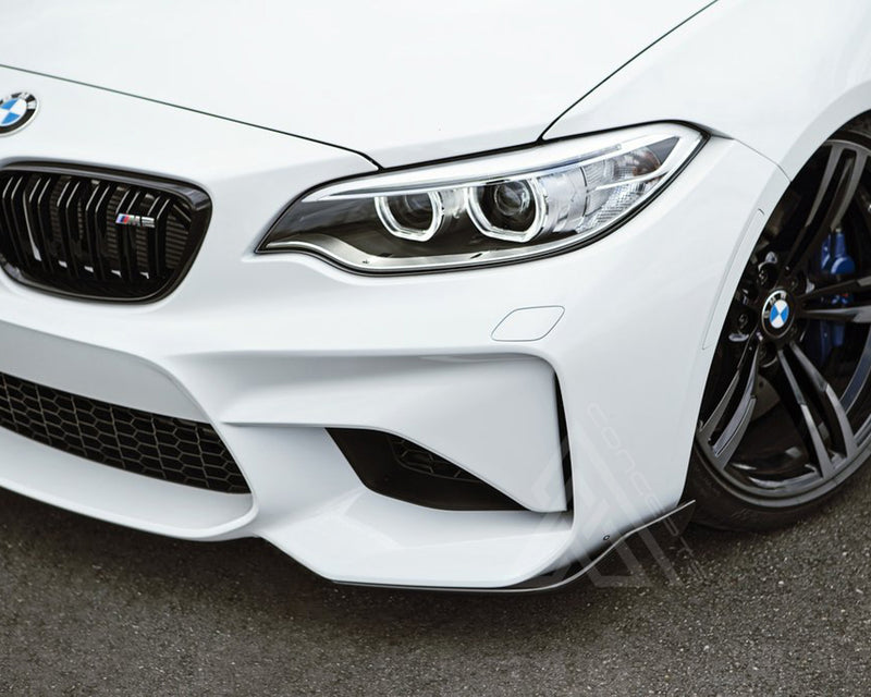 F87 M2C 2pc MP Style Carbon Fiber Front Bumper Splitters