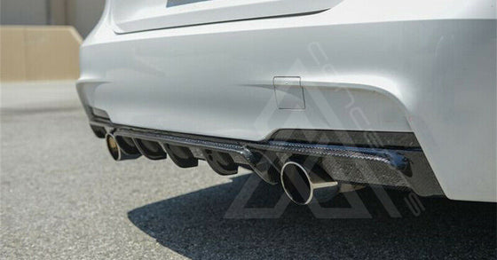 F30 F31 M Performance Carbon Fiber Rear Dual Outlet Diffuser